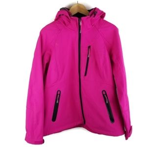 JC Penny Xersion Hot Pink Jacket Removable Hood